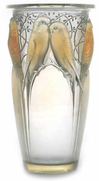 R. Lalique Vase Ceylon
