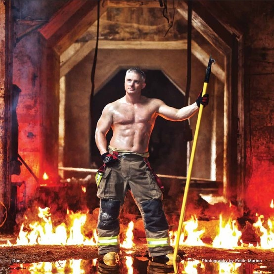 Month of December in the 2013 Toronto Fire Fighter Calendar supporting ...
