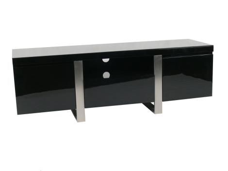 WT6890TV 1.8m Black Low Line Entertainment Unit