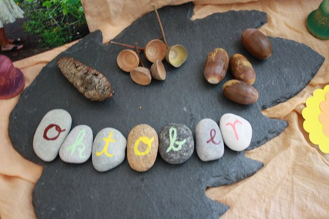 I like the idea of labeling stones by by season : )
