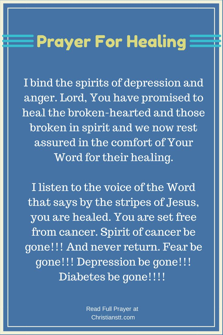 PRAYER For Healing, Total and Complete | Jesus ...