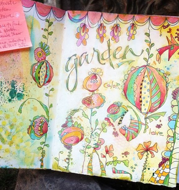 {artistically afflicted blog} - #shareyoursketch This style of drawing and using watercolour