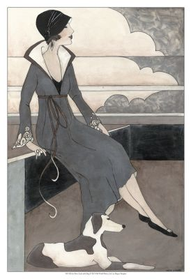 • Artistry International, Inc. • Art Deco Lady With Dog
