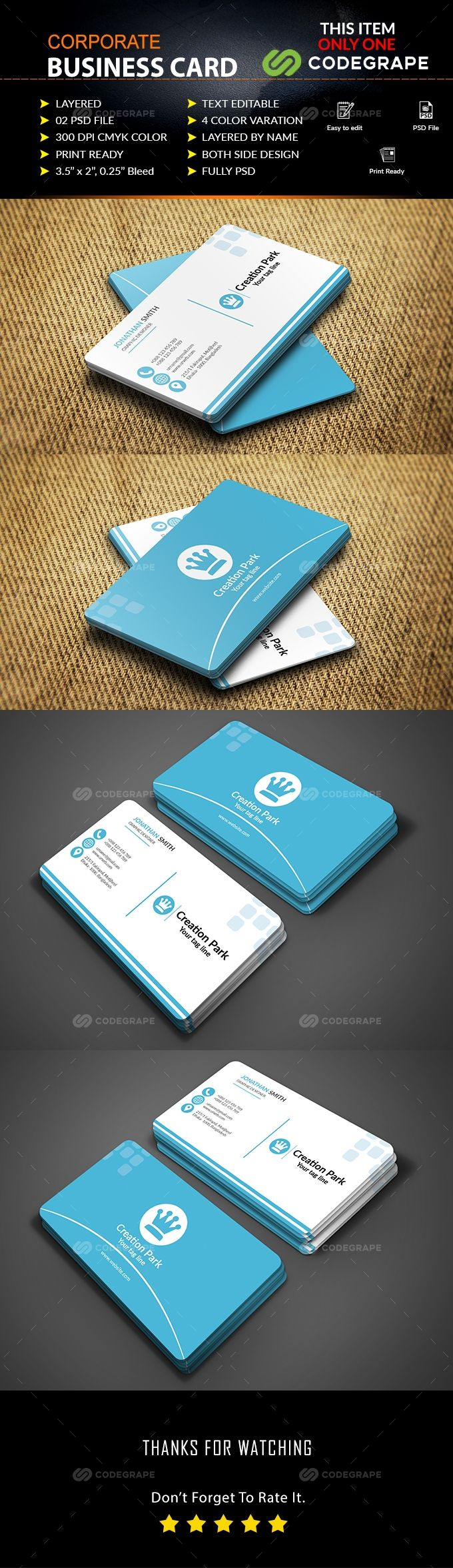 Corporate Business Card on @codegrape. More Info: https://www.codegrape.com/item/corporate-business-card/17326
