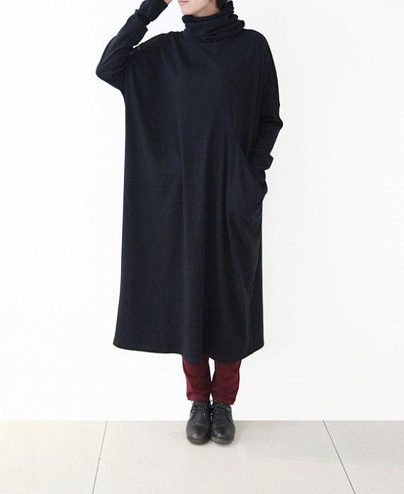 3 Colors women winter cotton dress pile collar long by lanbao
