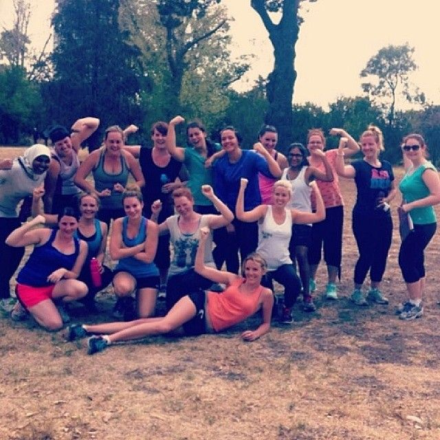 The lovely ladies from Fernwood St Kilda during their first bootcamp session! #fernwoodfitness #getfoxy #jointhemovement