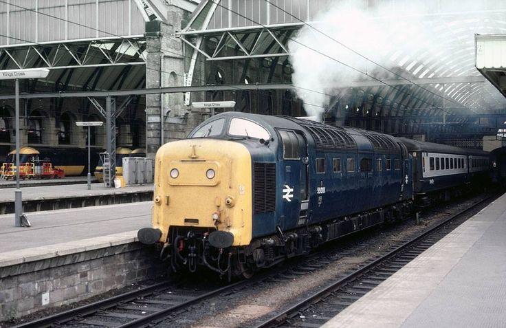 55010 'Kings Own Scottish Borderer' at Kings Cross in June 1980. (Ian Bowskill)
