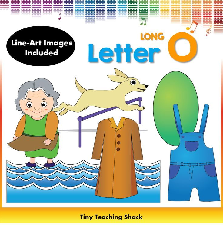 beginning sound phonics clipart for Long O