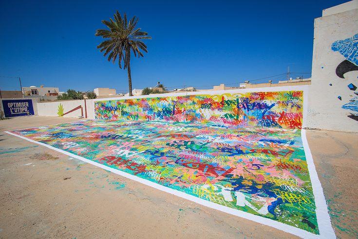Nebay (France) #streetart #erriadh #djerba #tunisia #spray