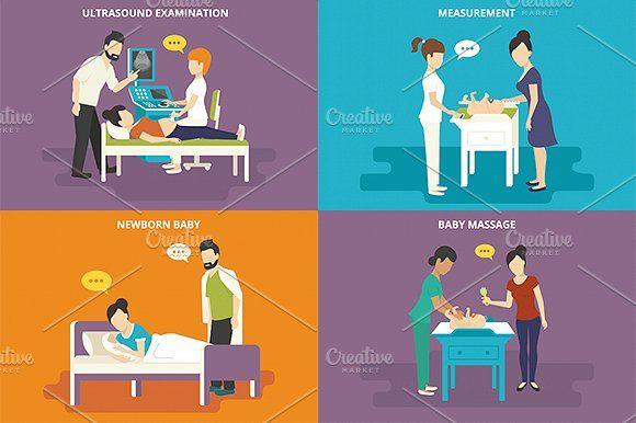 ilustraciones planas familiares conjunto # 15 - Ilustraciones