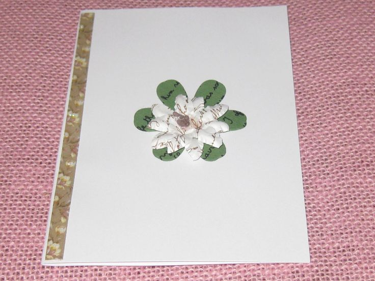 pretty flower card, ideal for mothering Sunday.