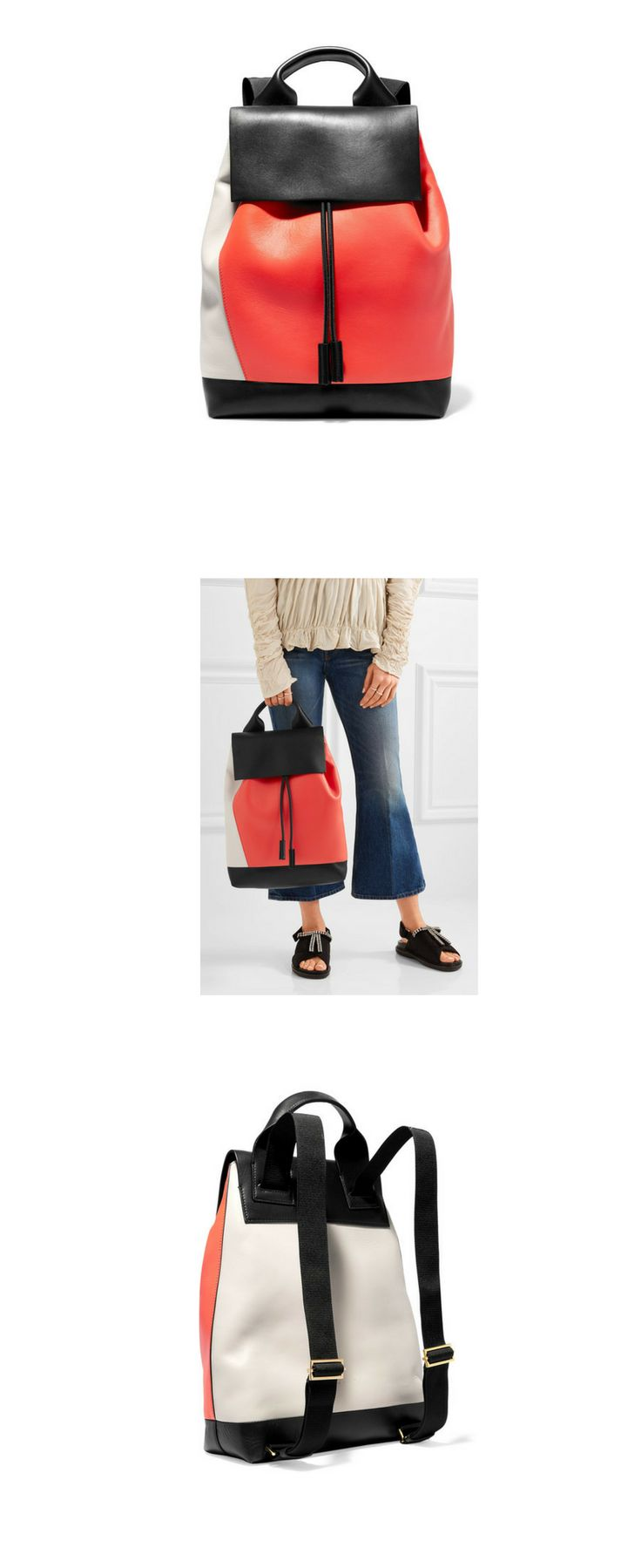 Marni - Pod Color-block Leather Backpack