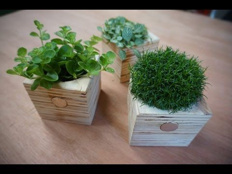 Magnetische plantenbakjes DIY Video | Magnetenkopen.nl