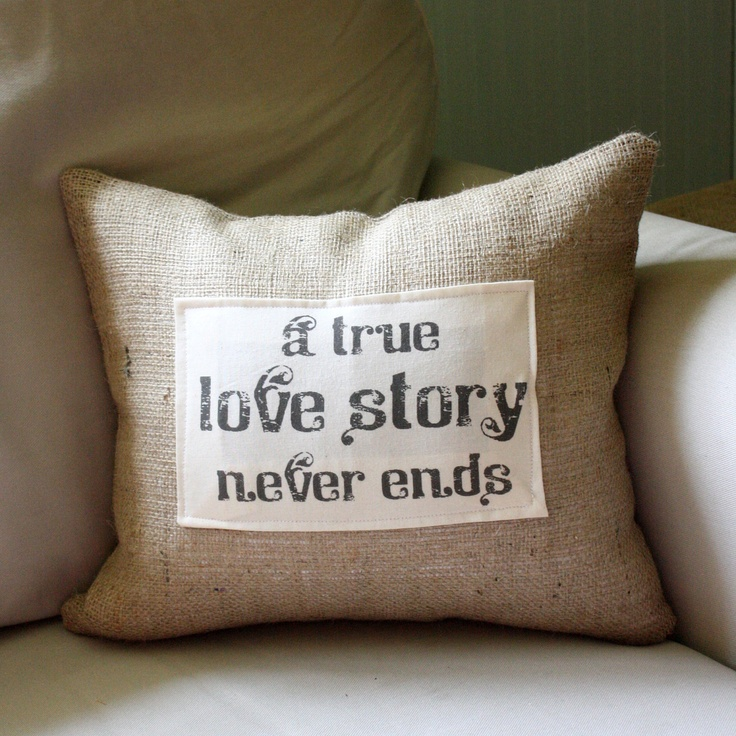 A True Love Story Never Ends Quote: A True Love Story Never Ends Quote Pillow Cover