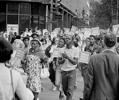Poor People's Campaign March in Washington, D.C., June 18, 1968.  Photo courtesy of Library of Congress.