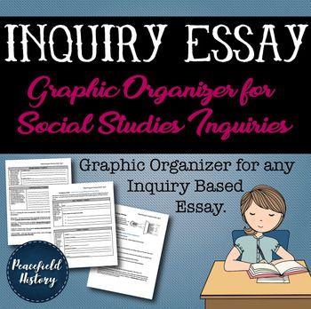 Inquiry Based Essay Graphic Organizer Social Studies C3 Fr