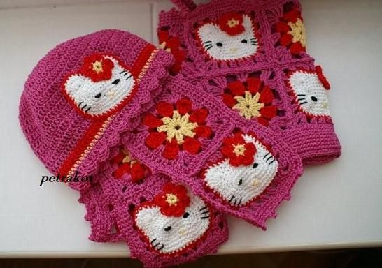 Free Hello Kitty Knit Hat Pattern : 145 best images about apliques. on Pinterest Free pattern, Minion crochet a...