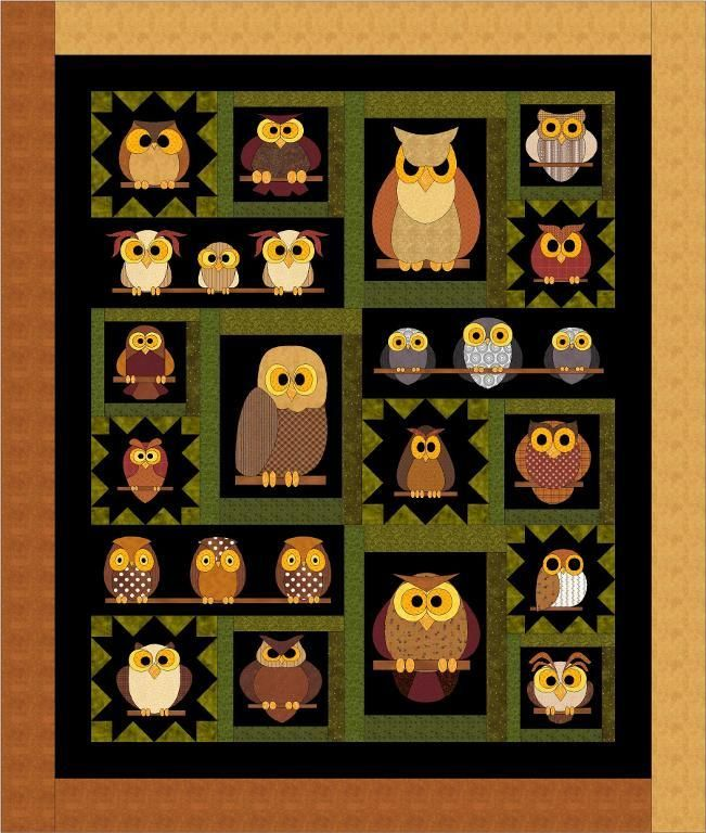 Free Quilt Pattern For Owls : Best 25+ Owl quilt pattern ideas on Pinterest Owl quilts, Bed quilt patterns and Owl applique