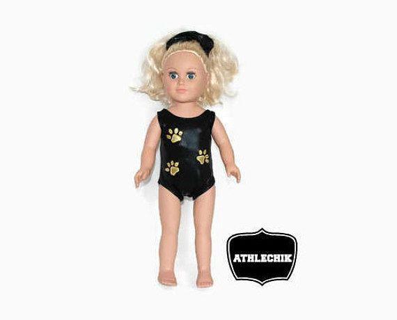 18 inch doll leotard one piece swimsuit gymnastics costume