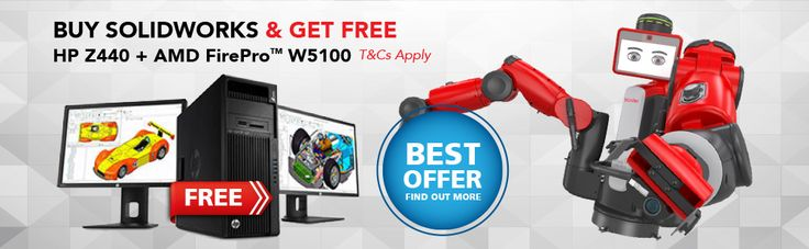 Good news! Purchase SOLIDWORKS* by 31 January 2016) and receive free HP Z440 Workstation + AMD FirePro™ W2100. Add-on promotion, enjoy instant FREE UPGRADE from AMD FirePro™ W2100 to AMD FirePro™ W5100.