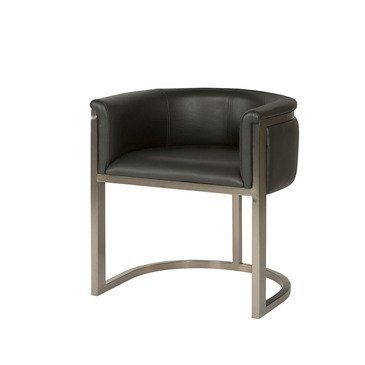 Hammary Flatiron Desk Chair w/ Dark Brown Leather Seat by Hammary. $525.00. Belongs to Flatiron Collection by Hammary. Upholstered in Dark Brown. Metal straps are finish in a plated black nickel. What is included:Desk Chair (1) This collection was inspired by classic furniture designs of the early 20th Century by Iconic Architects such as Breuer, Aims, Bauhaus, and Knoll. Characteristics of those designs were simplistic, clean and functional. Void of embellishments...