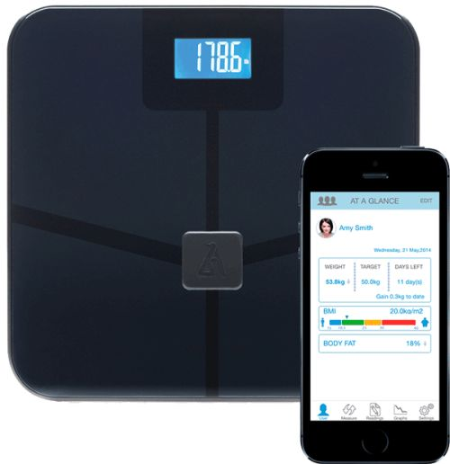 Accurately Calculates Six Important Body Metrics, BMI, Weight, Fat, Muscle, Water, Bone. First in class smart scale makes tracking your fitness goals an ease.