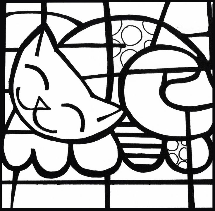 romero britto colorir4 1024x1004 Atividades de Artes Romero Britto artes | Atividades para Educacao Infantil