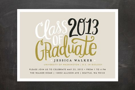 Handscript Party Graduation Announcements by Alethea and Ruth at minted.com