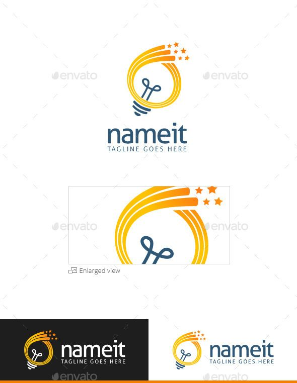 Creative Light Logo By Pixellbrand DESCRIPTION Is A Fully Layered Template Especially Designed