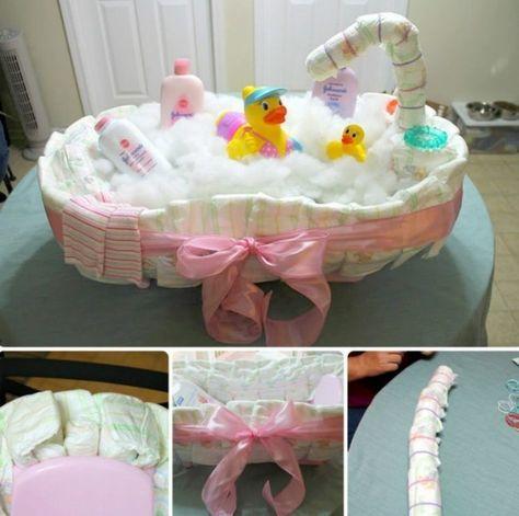 Windeltorte Selber Machen Wanne Baby Bad Enten Shampoo Gift Ideas