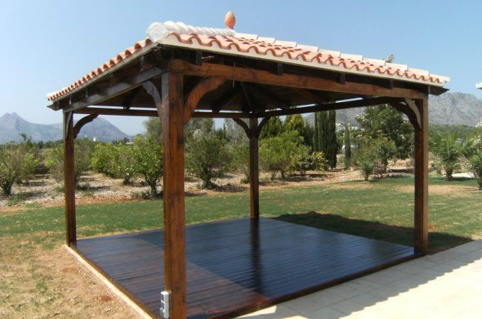 Pavilion kits for sale pergolas gazebos carports javea for Backyard carport designs