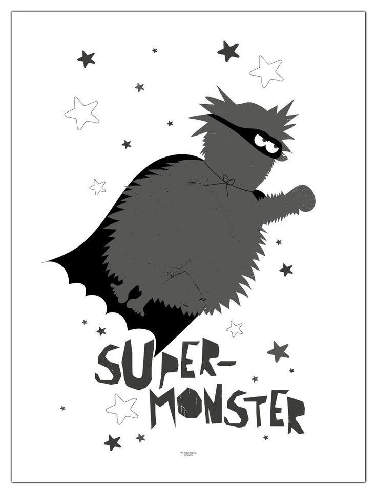 Plakat Flyvende supermonster