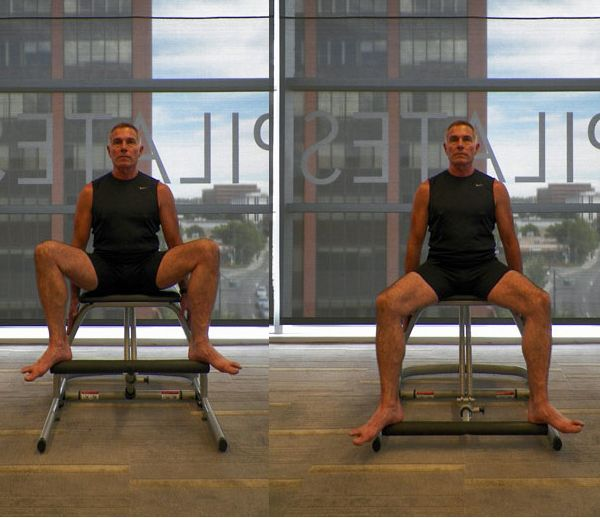 Lower Body Workout Challenge on the Pilates Chair: Double Leg Pumps - Legs Wide