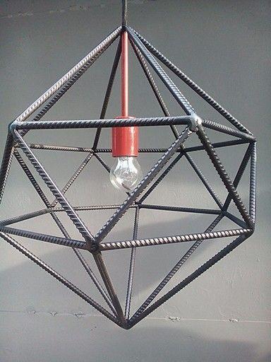Мы рады презентовать наш новый светильник. Изначально он изготавливался под заказчика,но он всем очень понравился и мы рады его представить.  Светильник получил название Semetri.  Характеристики: Тип цоколя: Е 27 Цвет: черно-красный Материалы: металлические прутья восьмого диаметра Габариты: 600x400x400