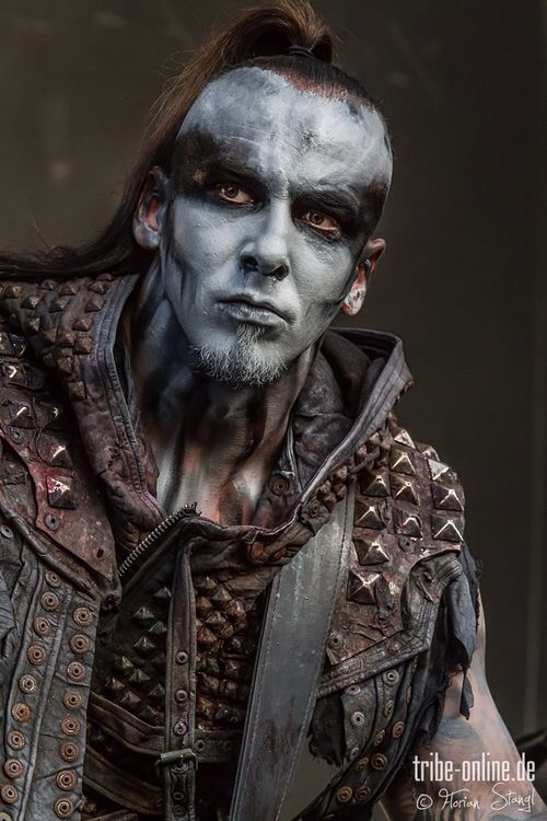 Tomasz 'Orion' Wroblewski. Not sure what this is from buut he makeup & vest are rad.