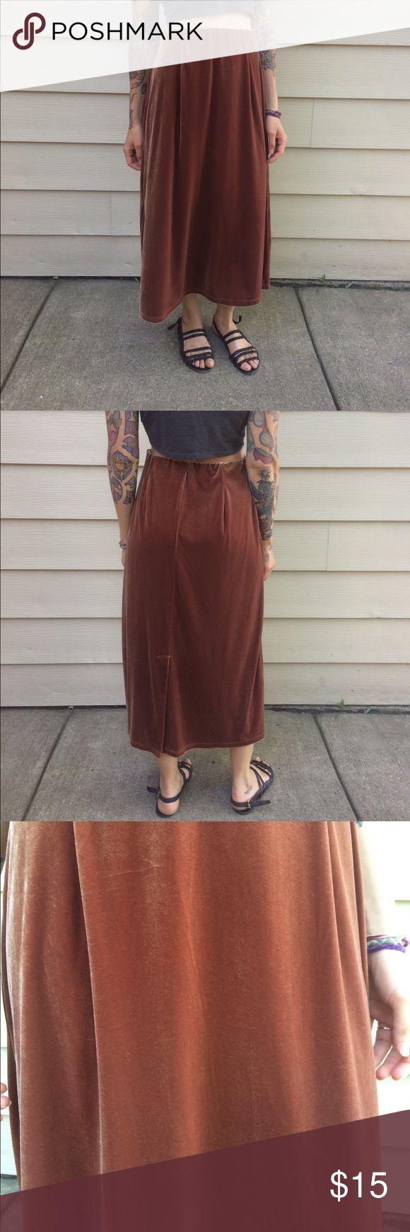 velour skirt long velour skirt with elastic waist Vintage Skirts