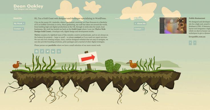 Horizontal Scrolling Website for DeanOakley.com #horizontal