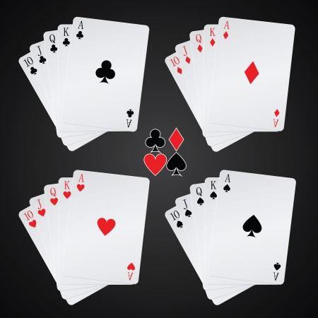 Royal Flush Poker Hands Four Card Suits