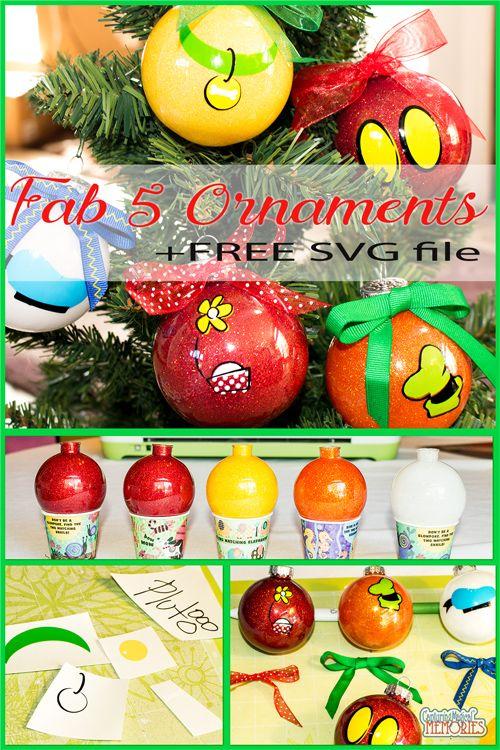 Disney Inspired Fab 5 DIY Holiday Ornaments  http://www.capturingmagicalmemories.com/easy-fab-5-holiday-ornaments/
