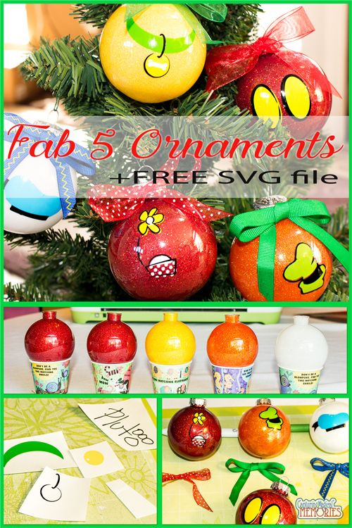 Disney Inspired Fab 5 DIY Holiday Ornaments  http://www.capturingmagicalmemories.com/easy-fab-5-holiday-ornaments/
