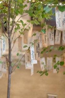 Plan de table sur arbre