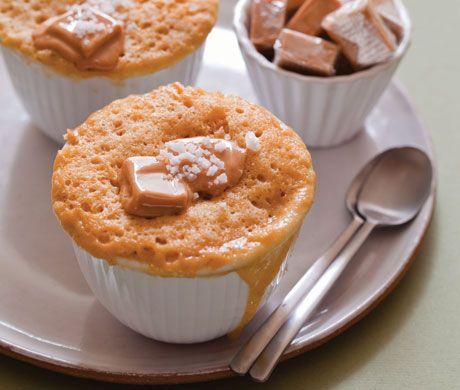 Caramel-Fleur de Sel Mug Cake Recipe | Epicurious.com