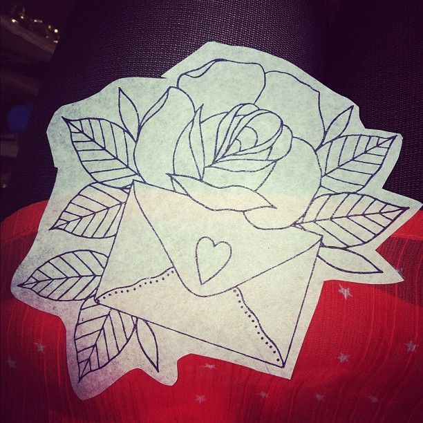 Love this idea for my grandma. Her name is Rose and she always sends me letters. <3