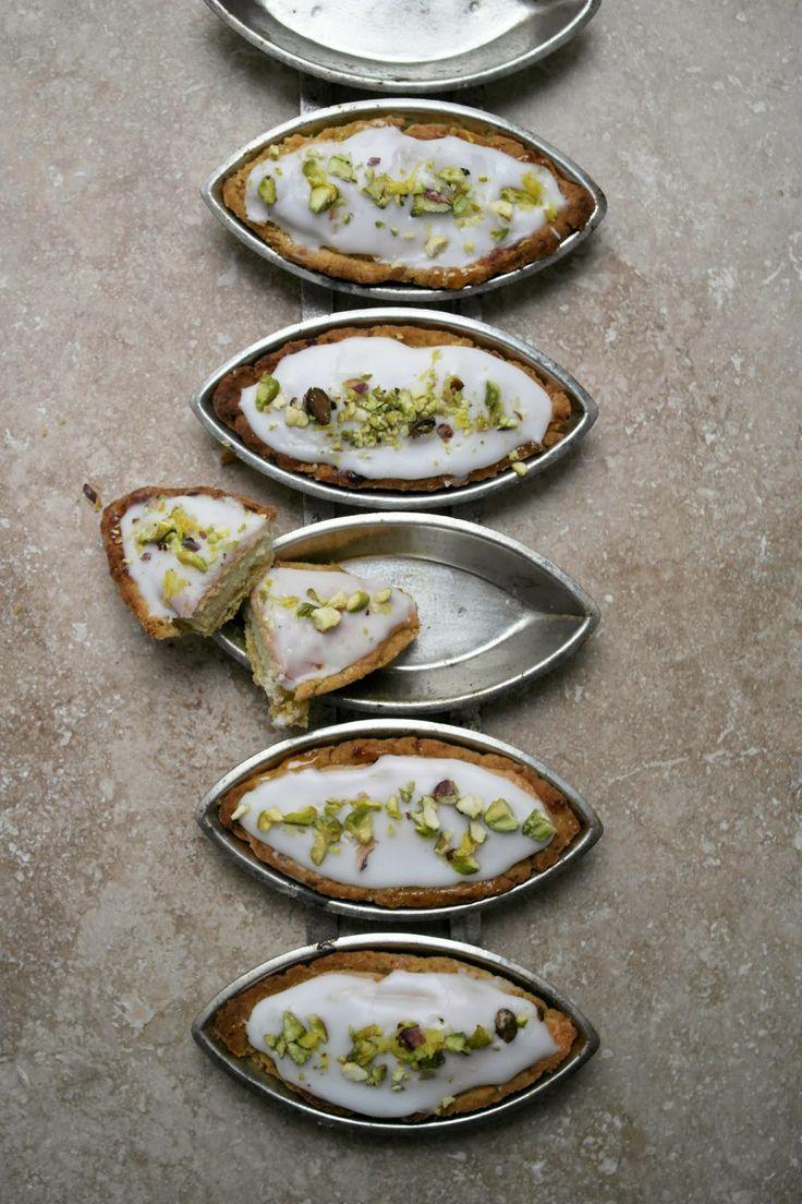 lemon and pistachio pastry tarts