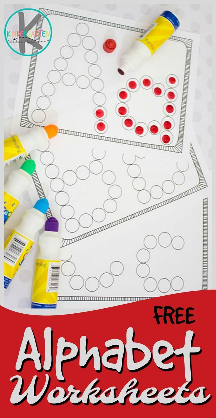 FREE Alphabet Worksheets - these simple abc worksheets are ...