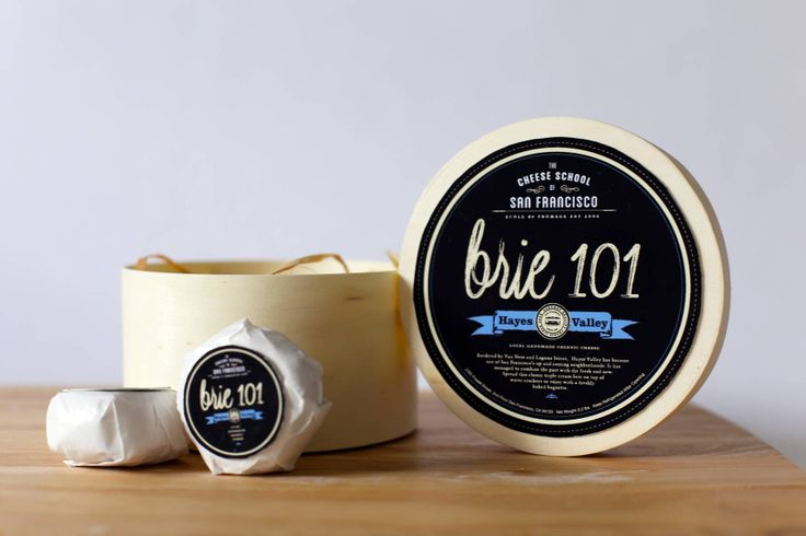 Brie Cheese Packaging #cheese #packaging #SF #brie #food #graphicdesign