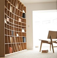 Bookcase by joined and jointed