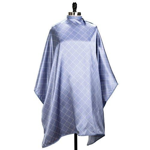 Upgrade your beauty salon essentials and keep your clients feeling extra comfortable with the Passionate Periwinkle Hair Cutting Cape. This salon cutting cape is water resistant and machine washable.