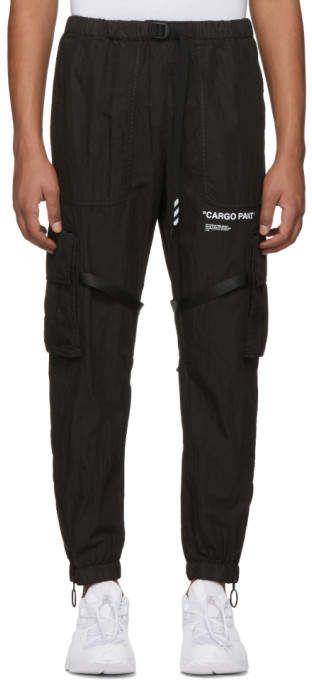 db2be482cadc Off-White Black Parachute Cargo Pants