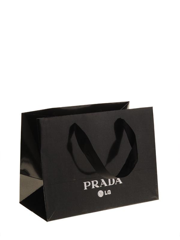 LG Prada papieren draagtas met satijn lint